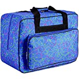 FamYun Sewing Machine Carrying Case Tote Bag,Padded Storage Cover Carrying Case with Pockets and Handles ,Canvas (Blue)