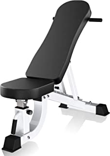 YouTen Adjustable Bench Press for Abs Exercise Like Dragon Flag, Easy Moving Versatility Flat Incline Decline Bench, Weight Capacity Home Gym Equipment