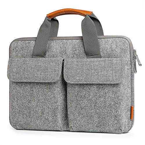Inateck Funda en Fieltro Maletín Compatible con 13 Pulgadas MacBook Pro 2020 M1-2016, 13 Pulgadas MacBook Air 2020 M1-2018, Surface Pro X/7/6/5/4, 12.4 Surface Laptop Go, 13.5 Surface Laptop 2017/2/3