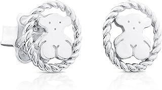 comprar comparacion TOUS pendientes mujer, plata de primera Ley. Cierre presión - Tamaño 0,95 cm