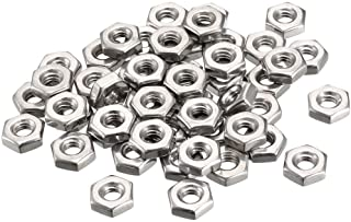 8-32 Female Thread Zep Silver Kep Hex Star Lock Nut 50pcs