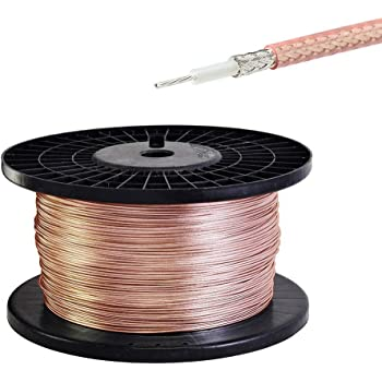 50 Feet RG400 M17//128-RG400 Double Copper Braid Shielded RF Coaxial Cable USA Shipping