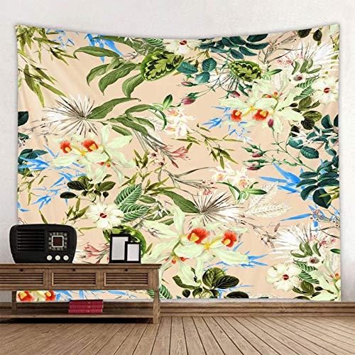 KHKJ Tapiz de Mandala con Estampado de Hoja de Planta, Tapiz psicodélico para Colgar en la Pared, tapisserie Bohemio, Alfombra de Pared Floral de Murale, Toalla de Playa A10 200x180cm