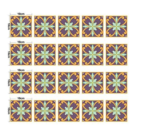 JY ART Y Wand-Aufkleber Küche Deko Badezimmer-Gestaltung - Küchen-Fliesen überkleben - Dekorative Bad-Gestaltung - Fliesen-AufkleberDT025, 10m*10cm