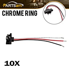 Partsam 3 Prong Pigtail Wire Plugs for Truck Trailer Boat Molded Stop Turn Tail Marker Lights 10pcs
