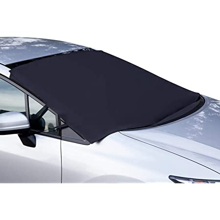 OxGord Windshield Snow Cover Ice Removal Wiper Visor Protector - All Weather Winter Summer Auto Sun Shade for Cars, Trucks, Vans and SUVs Stop Scraping with a Brush or Shovel