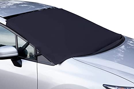 OxGord Windshield Snow Cover Ice Removal Wiper Visor Protector All Weather Winter Summer Auto Sun Shade for Cars Trucks Vans and SUVs Stop Scraping with a Brush or Shovel: image