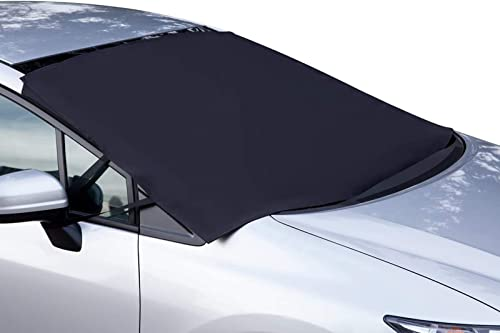 OxGord Windshield Snow Cover Ice Removal Wiper Visor Protector All Weather Winter Summer Auto Sun Shade for Cars Truc...