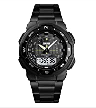 Guyay Men's Sports Watch Digital Watch Wrist Watch Electronic Quartz Movement Military Business Watch Steel Watches for Men