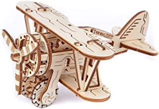 Biplane - Mechanical 3D Wooden Aeroplane Toy Model an Awesome Gift, Aeroplane for Kids (Toy Plane) by WOODEN.CITY.