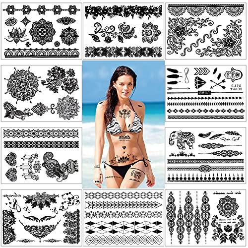 Tatouages temporaires femmes, Konsait Tatouages...