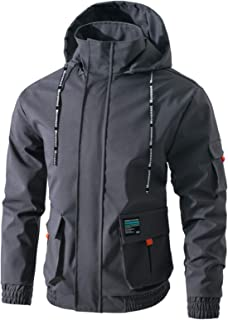 Jueshanzj Men's Zipper Jacket with Hooded