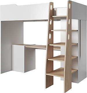 Lit mezzanine 2 places adultes - Lit mezzanine 2 places 160x200 ...
