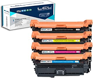 LCL Remanufactured Toner Cartridge Replacement for HP 647A 648A CE260A CE261A CE262A CE263A CP4025 CP4525n CP4525dn (4-Pack Black Cyan Magenta Yellow)