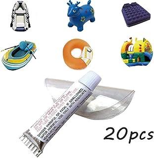 FreeLOOOOP Kit de reparación de Vinilo para Piscinas, Parche Inflable de Aire Caliente y Pegamento, Parches Adhesivos de Material de PVC para Barco para colchón de Aire de Cama(20 Piezas)