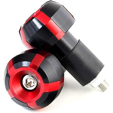 Lenkerenden Lenkergewichte Vibrationsdämpfer Für Motorrad Motorroller Lenker Mit 17 5 Mm Innendurchmesser Rot Auto