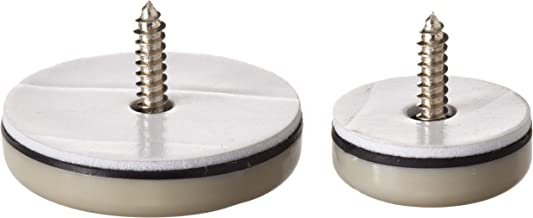 Shepherd Hardware 9471 1-Inch and 1-1/2-Inch Round, Adhesive Slide Glide Furniture Sliders, 20-Count