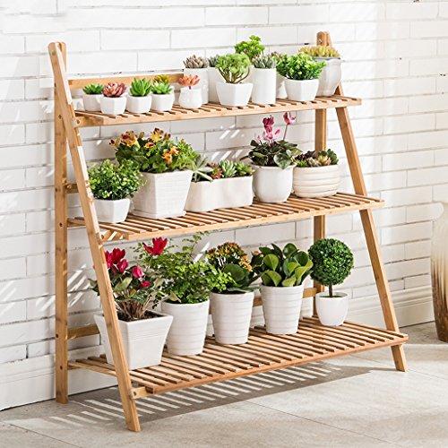 Racks de fleurs Bamboo Color Racks à fleurs en bambou de grande capacité Couches multiples intérieures et extérieures Rack de pot de fleurs pliable (quatre tailles en option) ( taille : 50 cm )
