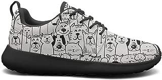 VXCVF Leopard Cheetah Print Brown Black Women Walking Shoes Wear-Resistant Casual