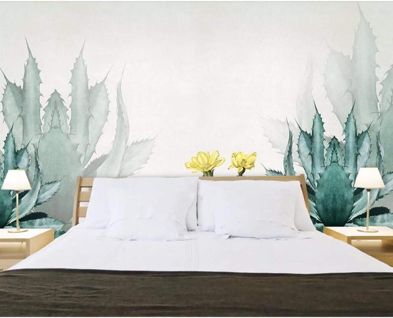 comprar nuevo barato Yssyss Yssyss Yssyss 3D Mural Acuarela Estilo Cactus Tv Fondo Parojo Sala De Estar Decoración Dormitorio-200(H)140(W) Cm  moda clasica