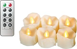 Erosway Flammenlose Kerzen, realistisch Flackernde LED Teelichter elektrische Kerzen, 300..