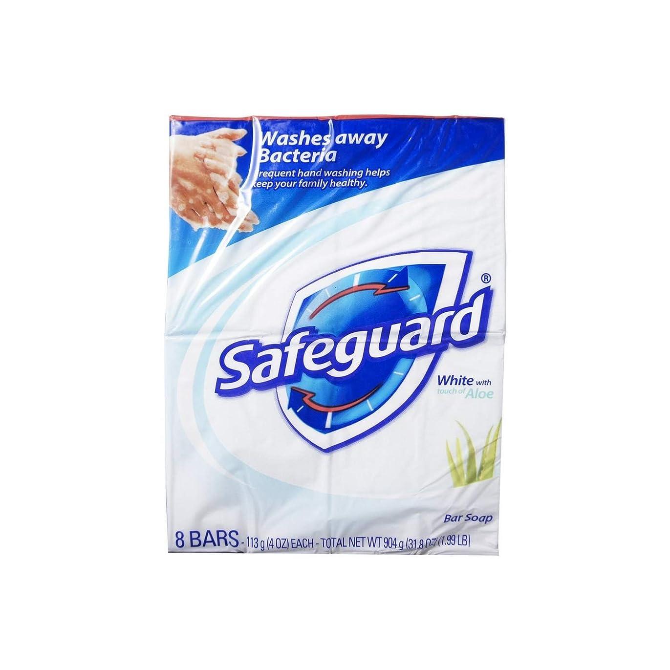 獣狂うポルティコSafeguard 抗菌石鹸、ホワイトアロエでは、4つのオズバー、8 Eaは(6パック)