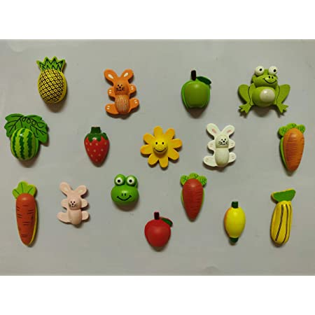 SuperBasics Mix Wooden Fridge Magnets | Randomly Selected 12 Pieces