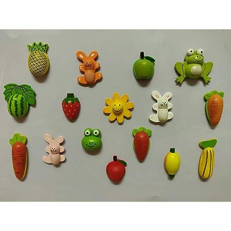 SuperBasics Mix Wooden Fridge Magnets | Randomly Selected 12 Pieces