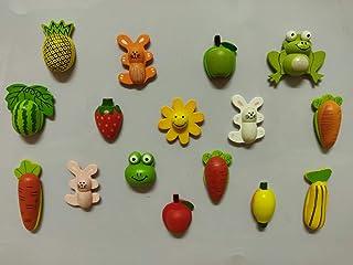 SuperBasics Mix Wooden Fridge Magnets   Randomly Selected 12 Pieces