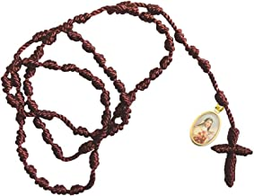 Gifts by Lulee, LLC Saint Therese of Lisieux Franciscan Rosary with Gold Plated Color Medal and Blessed Laminated Prayer Card Imported from Italy