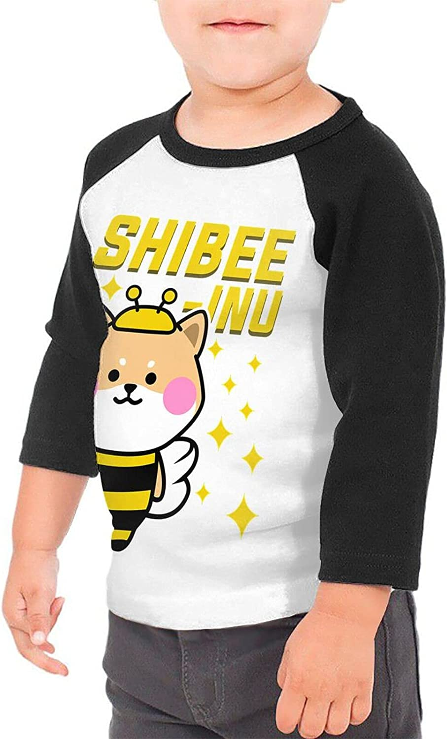 Shiba Inu Dog Bee Beehive Stingless T-Shirts Novelty for Youth Tees with Cool Designs