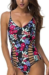 Women One Piece Swimsuit Crossback Hollow Out Monokini Swimwear