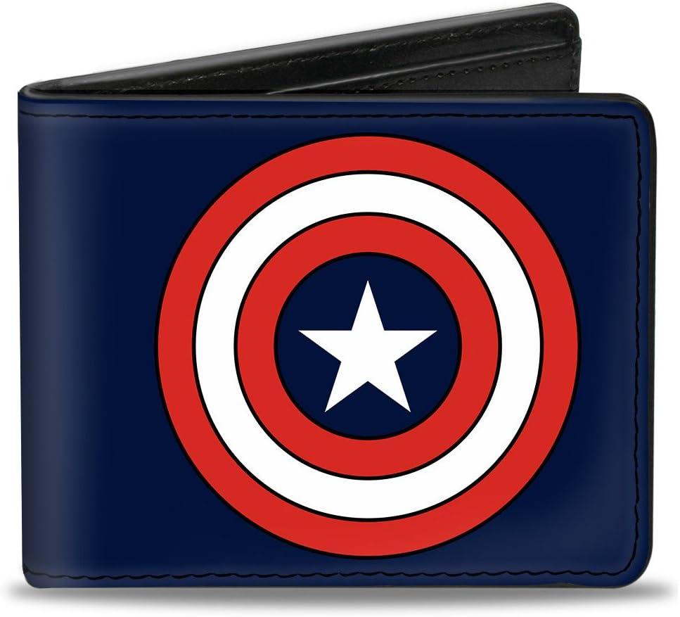 Buckle-Down mens Buckle-down Pu unisex Ranking TOP1 Bifold Captain Shield America -