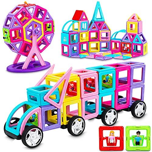 Dookey Magnetische Bausteine 138Pcs STEM Spielzeug...