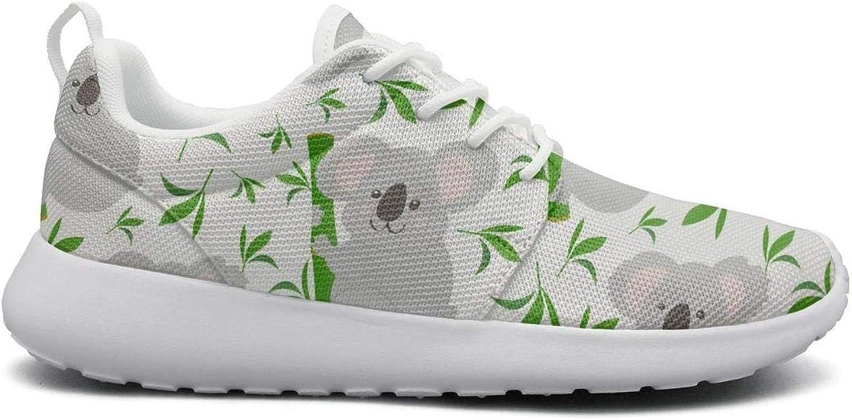 Gjsonmv Palm Trees Koala Bear mesh Lightweight shoes for Women Cool Sports Hiking Sneakers shoes