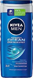 NIVEA MEN Fresh Ocean pielęgnujący żel pod prysznic (250 ml), z minerałami morskimi i zapachem oceanowym, orzeźwiający pry...