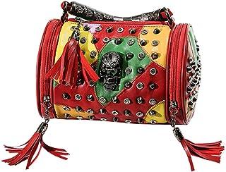 Fanspack Lady Handbag Rivet Tote Bag Crossbody Bag Satchel Purse Messenger Shoulder Purse