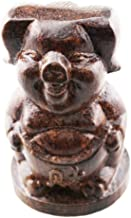FOY-MALL Cute Wood Carved Chinese Zodiac Pig Figurine S1038