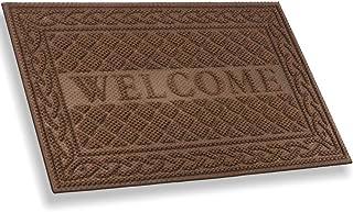 MIBAO Durable Door Mat, Heavy Duty Rubber Doormats, Welcome Mats, Indoor Outdoor, Non-Slip, Easy Clean, Absorb Water, Low-...