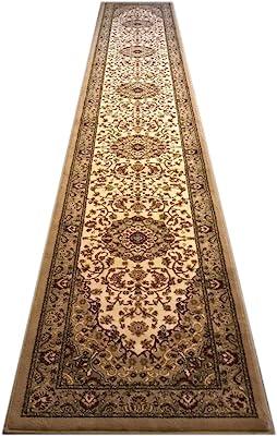 Bellagio Traditional Long Runner Area Rug Design 401 Beige (32 Inch X 19 Feet 8 Inch)