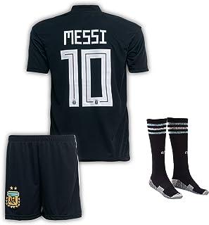 Argentinien Messi Trikot Set #10 Auswärts 2020 Kinder Fussball Trikot Mit Shorts und Socken Für Kinder