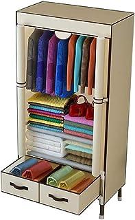 ALYR Armoire en Tissu Cabine, Portable Dressing penderie Toile Armoire Armoire de Rangement Penderie de vêtement Tissu int...