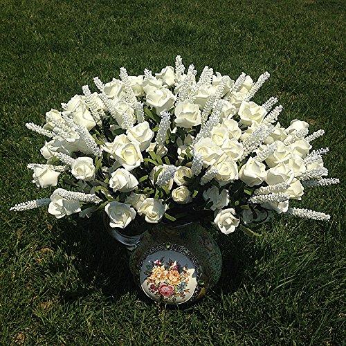 LISRUI 9 Haarbänder, Lavendel, Rosa, künstliche Peony Silk Flowers, feuchtigkeitsspendend, für Zuhause, Dekoration, Wedding, Ornamente
