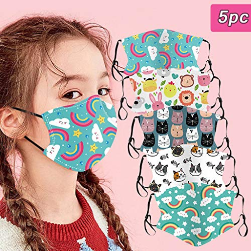 Great Deal! GUCIStyle Cute Printing, Face Màsc for Kids - Mouth Face/Protect Cotton Washable Mouth ...