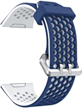 Charberry Lightweight Ventilate Silicone Perforated Accessory Sport Bands for Fitbit Ionic (Blue)