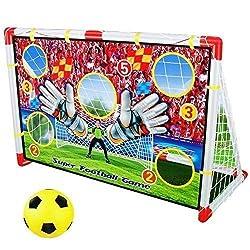 Dominiti eK 2in1 Indoor goal wall, with net Football goal with ball, Football Play for children Nursery