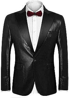 Men's One Button Notch Lapel Blazer Tuxedo Jacket Prom Party Jacket Wedding Dinner Coat