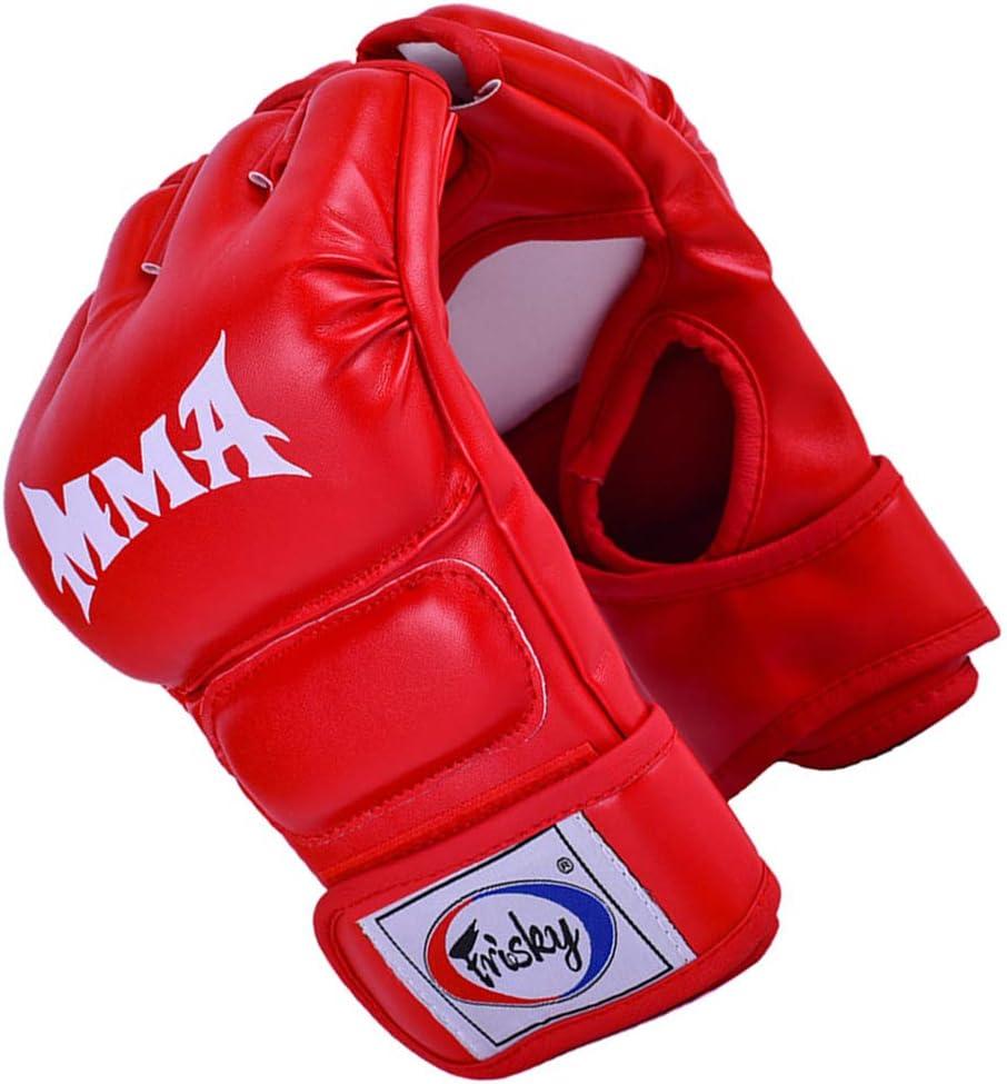 lahomia MMA Grappling Gloves Guanti da Boxe Mezze Dita Professionali MMA