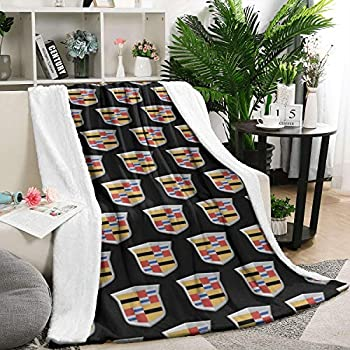 linchen Weighted Blanket Ultra Soft Flannel Fleece Warm Blanket Cadillac-Price-Truck-Yellow-Logo- Bedroom Baby Blanket 60 X 80 Inch
