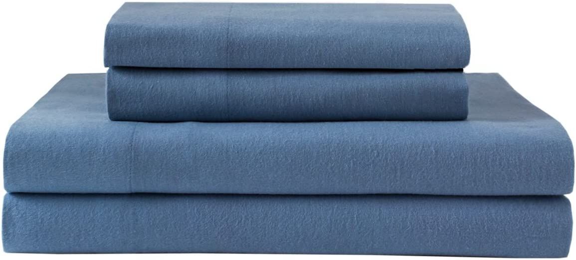 Queen Hutton Plaid//Grey Elite Home Products Deep-Pocketed Winter Nights 100/% Cotton Flannel Sheet Set